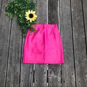 Vintage hot pink leather skirt 💕